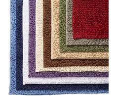 Pinzon by Amazon - Tappetino da bagno, in cotone lussuoso con lavorazione a riccio, marrone chiaro, 53 x 86 cm