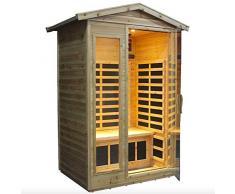 Sauna Infrarossi Finlandese da Esterno 125x105 cm