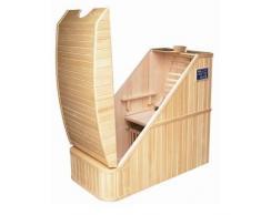 Bagno Italia Sauna 120x70 cm a infrarossi in legno canadese Hemlock 1 posto cromoterapia