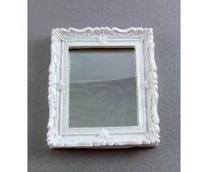 Casa delle Bambole - Specchio da Bagno Bianco Shabby Chic