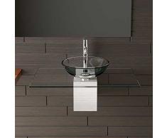 Vetro trasparente lavaggio rigida Ø 42 cm con vetro trasparente lavabo Piastra 90 cm Alpen Berger®