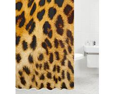 Tenda da doccia | grande scelta di belle tende da doccia di alta qualità | 12 anelli inclusi | impermeabile | effetto anti-muffa (180 x 200 cm, Leopardo)