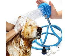 Weimi Pet doccia spruzzatore e scrubber in-One doccia esterna per esterni Kit attrezzi per cane gatto con spazzola governare testa 7.5 Ft tubo e scrubber
