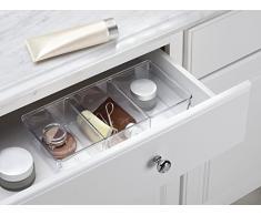 mdesign cosmetici organizer per lavabo, Armadietto per la conservazione di trucco, cosmetici