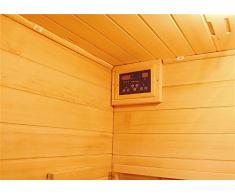 Sauna Infrarossi 120x115 due persone in Legno cedro rosso con Cromoterapia e Ionizzatore
