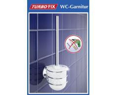 Wenko Turbo-Loc 18768100 Set da bagno cromato da parete, 10x37,5x11,5 cm, fissare senza trapano