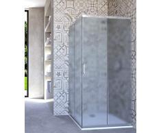 HYDRA Box Doccia angolare Porta Scorrevole 90x90 cm Opaco