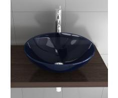 Mobili in vetro/vetro lavabo/Blu ciotola in vetro/Design blaugl aswasch rigida Ø 420 mm/vetro lavaggio guscio/vetro//ospiti WC/bagno/Lavandino/lavabo/Alpi Berger