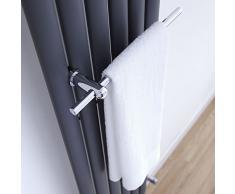 Hudson Reed - Porta Salviette Cromato per Radiatori Termoarredi Modello Revive (Ottone Solido, Portaalviette Moderno)