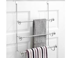 Interdesign 79150EU York - Porta asciugamani da appendere su parete doccia