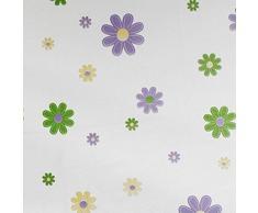 Tende da Doccia 180cm x 240cm, Tende da Doccia per Vasca, Moon mood® Impermeabile Tenda da Bagno Accessori con 12 Anelli Polyester Shower Curtains Bath Waterproof Flower Pattern Anti-mold Curtain Bathroom