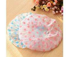 SwirlColor 2 pezzi Donne acquazzone impermeabile Cappello doccia cuffia cappello fascia elastica di Spa