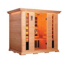 Sauna Finlandese ad Infrarossi 4 Posti In Hemlock Canadese H188x188x148cm Vorich Luxury Eco