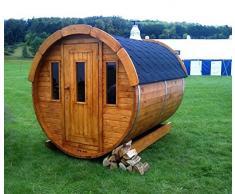 Sauna finlandese a botte fino a 8 persone da esterno