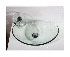 Contemporaneo Rettangolare Materiale del dissipatore è Vetro temperato Lavandino bagno