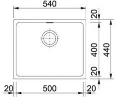 Franke cubo KBG 110 – 50 lavandino in granito onice nero da incasso lavandino eccentrico