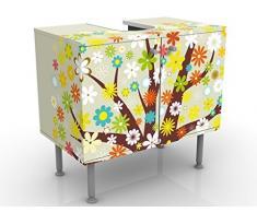Mobile per lavabo design Dream Tree 60x55x35cm, basso, Larghezza: 60cm, regolabile, mobiletto da lavandino, lavandino, mobiletto da lavabo, lavabo, mobiletto, bagno, bagnetto, mobile da bagno