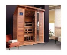 Sauna infrarossi per 3 persone Modello ISLANDESE elegante legno di Cedro Rosso
