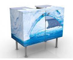 Mobile per lavabo design Antarctic Iceberg 60x55x35cm, Größe:55cm x 60cm