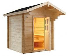 Sauna finlandese Svezia per 6 persone da esterno