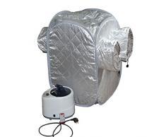 Z&HX-Sauna personale, Sauna pieghevole portatile, Sauna a infrarossi vicino, Sauna per 2 persone all'aperto , grey