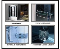 Bagno Italia Cabina idromassaggio 90x90 6 getti con vasca box doccia multifunzione sauna bagno turco I