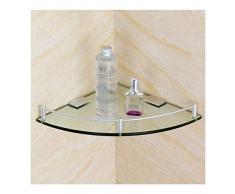 WWWANG Lavabo Bagno dangolo temperato mensola di Vetro, Spessore 8mm Montaggio a Parete Triangolare, Cromo Lucido Opslag (Size : 250MM)
