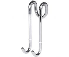 Ganci doccia Bamodi per box doccia e vasca da bagno - Gancio doccia per cabina doccia super leggero - Ganci bagno per parete doccia - Gancio appendi asciugamano per porta doccia