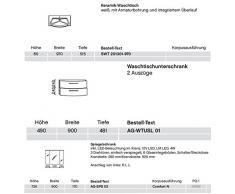 Pelipal solitario 6005 Argona 3?Set arredo bagno lavabo/Armadietto/AG SPS – 03