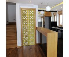 Gnany™ - Adesivi da parete 3D di grandi dimensioni, in acrilico, design moderno, per decorare la casa, salotti, specchi Gold