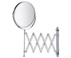 Wenko 15165100 Specchio Cosmetico da Parete Telescopico Exclusiv, Acciaio, Materiale Plastico, 19 x 38,5 x 50 cm, Cromo