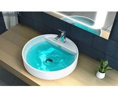 Lavabo Design Da Semi-Incasso In Ceramica Bianca RC4646
