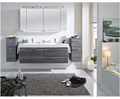 Pelipal Balto Set da 3 pezzi Mobile da bagno Set/lavabo/armadietto/armadietto a specchio