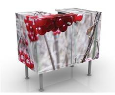 Mobile per lavabo design no.CA42 Forest Fruits 60x55x35cm, basso, Larghezza: 60cm, regolabile, mobiletto da lavandino, lavandino, mobiletto da lavabo, lavabo, mobiletto, bagno, bagnetto, mobile da bagno