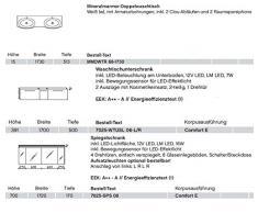 Pelipal Solitaire 7025 3 pezzi Mobile da bagno Set/lavabo/armadietto/armadietto a specchio/Comfort E