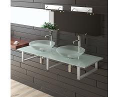 Latte in Vetro lavaggio automatica/lavabo/vetro smerigliato piatto/Alpi Berger lavabo serie 100/mobili in vetro/lavabo/Bagno/lavaggio tavoli per il tuo Esclusivo bagno/Doppio lavabo