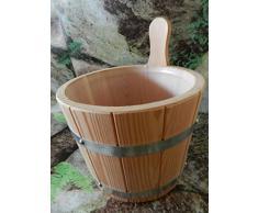Aromi per sauna, vasi in certificazione PEFC legno di larice 5 litri con inserto in plastica