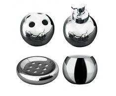 Ridder 229923000-350 Bowl - Set di accessori per il bagno, colore: Argento, 4 pz.