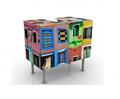Mobile per lavabo design Windows Of The World 60x55x35cm, basso, Larghezza: 60cm, regolabile, mobiletto da lavandino, lavandino, mobiletto da lavabo, lavabo, mobiletto, bagno, bagnetto, mobile da bagno