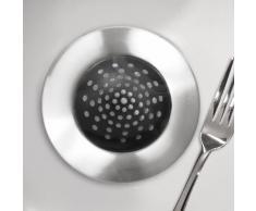InterDesign 65382EU Forma Filtro Lavandino, Metallo, Argento, 10x4x10 cm