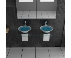Ceramica Lavandino/Designer/mobili in vetro/Alpi Berger/Serie 200/Ceramica – Trasparente Vetro lavabo/Doppio lavabo/Hand