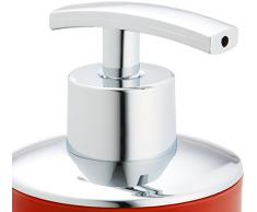Wenko Brasil - Dispenser di sapone liquido, 7,3 x 9 x 16,5 cm, Plastica, rosso, 9 x 7.3 x 16.5 cm