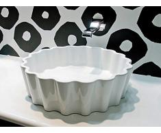 Flaminia Lavabi Doppio Zero Lavabo 46 appoggio foro centrale in ceramica DZ46L