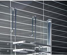 Cabine Doccia sospeso scaffale 3 piani senza foratura doccia mensola scaffale per il bagno