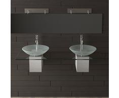 Mobili in vetro/vetro lavabo/lavabo/Alpi Berger Designer lavabo Serie 200/lavabo per lavandini per il esclusivo bagno/bagno/lavanderia ciotola/doppio lavabo