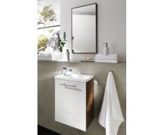 Posseik 5823 91 Alexo - Mobiletto con lavabo, colore: Noce/Bianco lucido