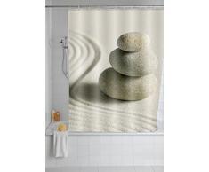 Wenko Tenda Doccia Sand And Stone, Lavabile, Poliestere, 180 x 200 cm, (Bunt)