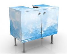 Mobile per lavabo design Above Sea Level 60x55x35cm, basso, Larghezza: 60cm, regolabile, mobiletto da lavandino, lavandino, mobiletto da lavabo, lavabo, mobiletto, bagno, bagnetto, mobile da bagno