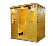 Sauna infrarossi completa di riscaldatori in Ceramica tipo C Giada Dimensioni: 180×120X190 cm.