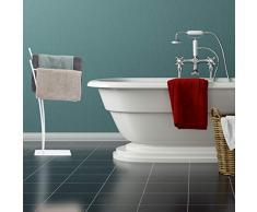 Porta Asciugamani Da Bagno In Legno : Piantana porta asciugamani color bianco da acquistare online su